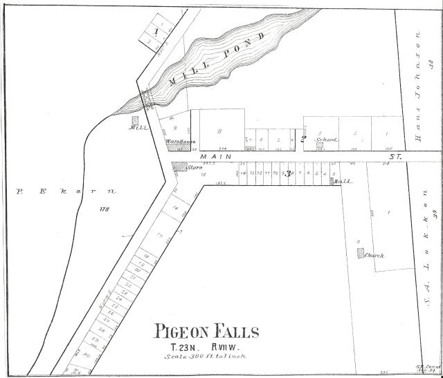 Pigeon Falls plat 1901