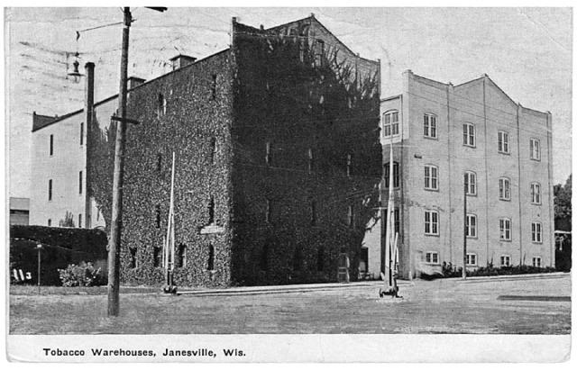 Tobacco warehouse (unident) Janesville ca 1909