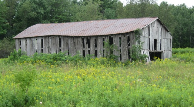 Pigeon Falls tobacco shed